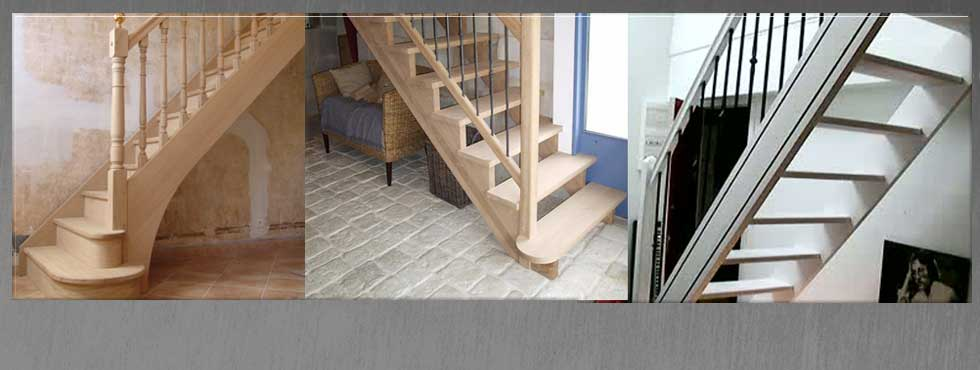 <ul> <li>Escalier droit à partir de 790 € TTC</li> </ul>